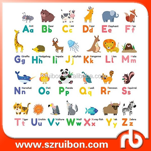 8 letter word starting with tre colourful alfabeto animale buccia e bastone nursery per 26763 | HTB1erhnQFXXXXcbXFXXq6xXFXXXI