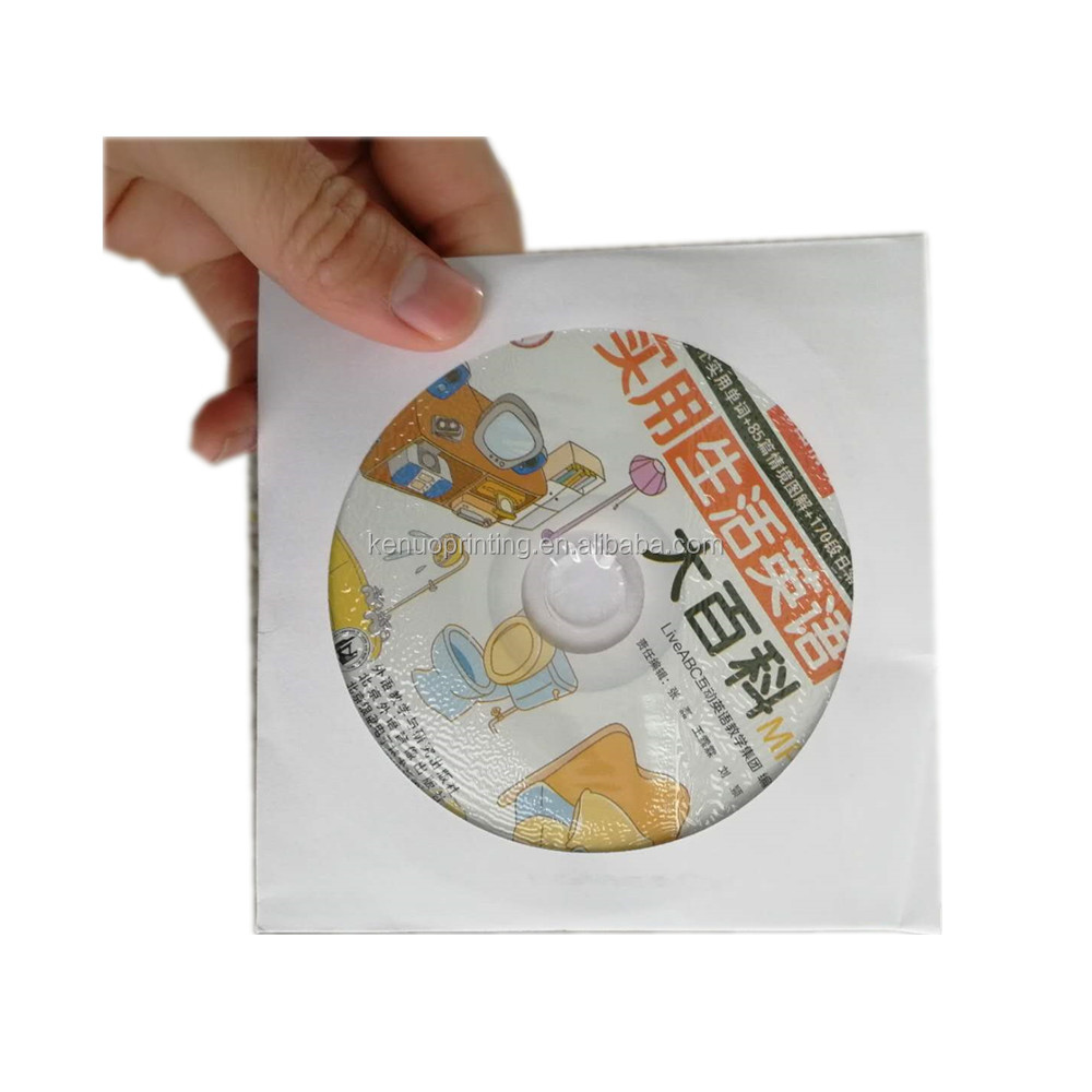 product packaging custom paper envelope cd packaging and printing