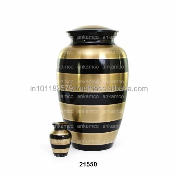 Two Tone Brass Cremation Urn