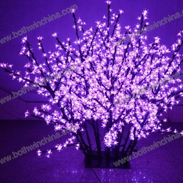 Outdoor romantic latest led stage decoration artificial cherry outdoor street decoration led cherry blossom tree with high brightness lights junglespirit Gallery