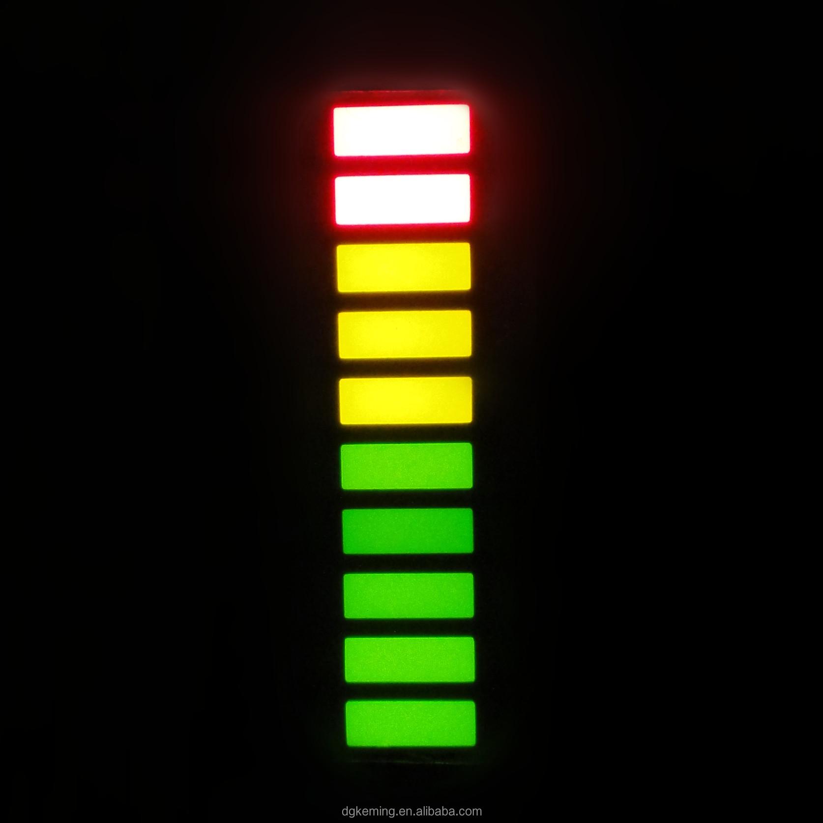 Red Yellow Green 10 Segment Bargraph Led Display 10 Bar 3 Color