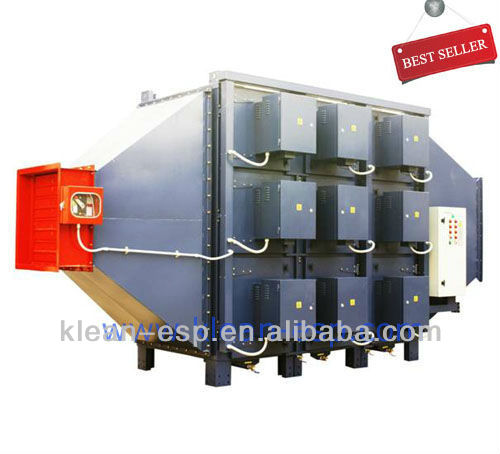 electrostatic precipitator for textile finishing line