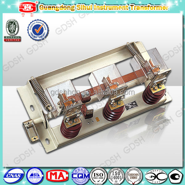 50Hz Indoor Used High Voltage Earthing Switch Equipment
