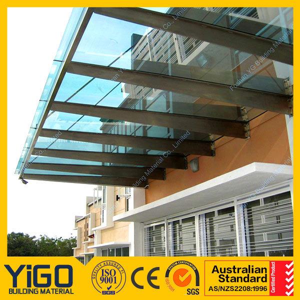 New Design Large Glass Door Canopy