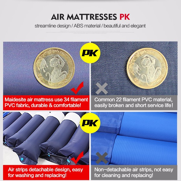 alternating pressure anti bedsore inflatable hospital bed air mattress