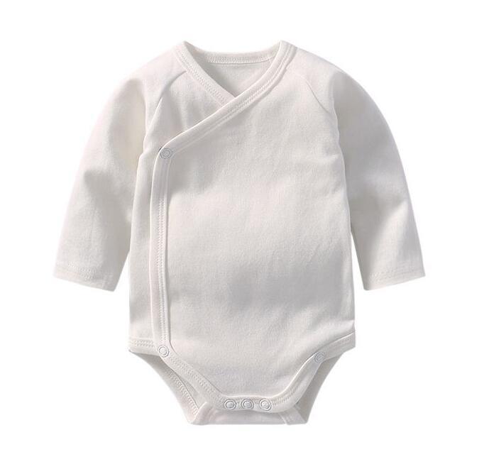 Pas cher bébé onesie OEM service bébé plaine blanc barboteuse