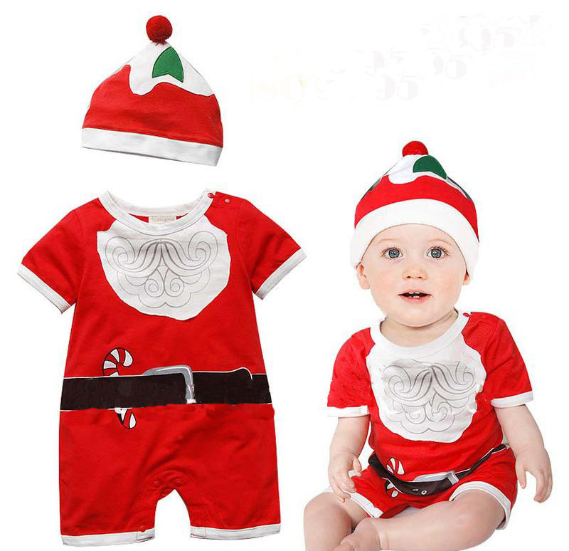 S31918W 2016 Christmas Baby Rompers Newborn Baby Christmas Santa Claus Clothes