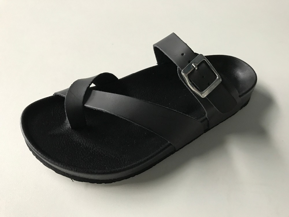 high heel black sandals for men