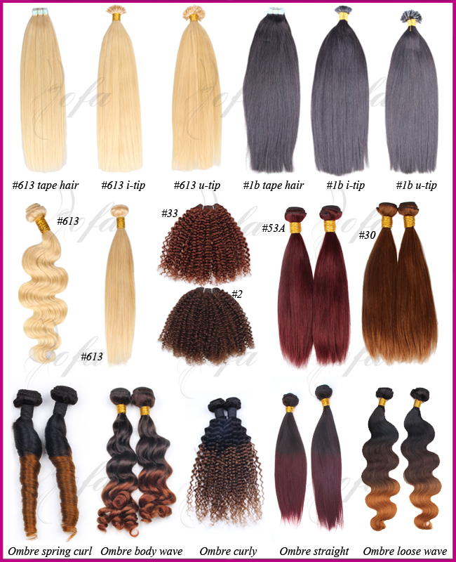 Different Types Of Human Hair For Braiding Human Hair Extensions