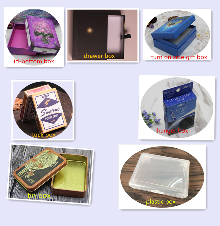 Top Sale Custom Design Type Of Paper Printed Tarot Decks Of Cards To Print With Lid And Bottom Boxes Wholesale