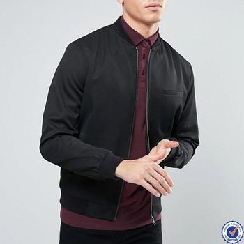 Mens Clothing Bomber Jacket Wholesale Plain Black Bomber Jacket ...