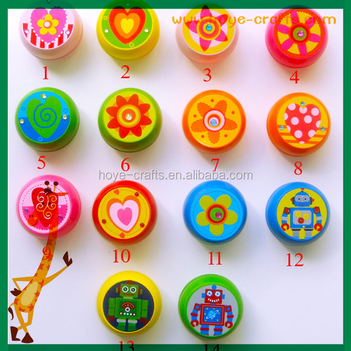 children gifts wooden classic toy factory sale fashion colorful yoyo