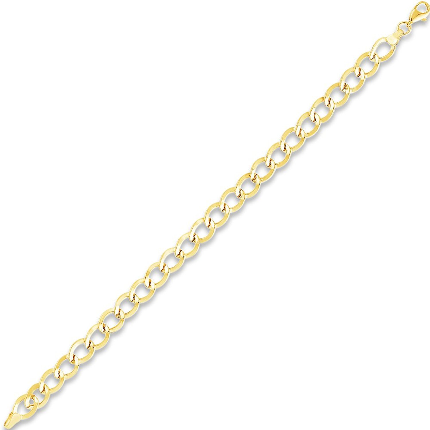 The Bling Factory Small 2mm 14k Gold Plated Stainless Steel Box Chain w//Lobster Claw Clasp Jewelry Polishing Cloth