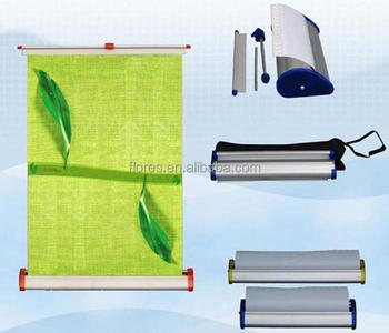 teardrop aluminum tabletop roll up screen for advertising display
