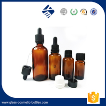 10ml amber sample eliquid bottle for cosmetic glass packaging with screw cap.