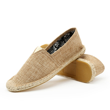China manufacturer wholesale linen jute fashion mens shoes canvas man casual shoe
