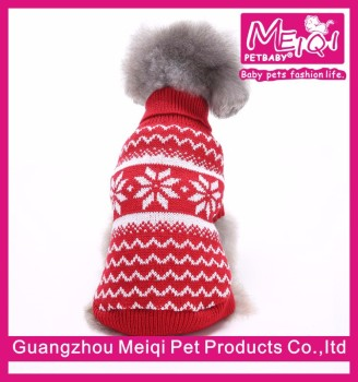 red snowflake christmas pet clothing china dog sweater cheap