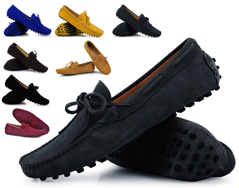 2015 Mens Genuine Leather Suede Breathable Moccasins Driving Shoes Comfortable Loafer Shoes fashion sapatos masculinos Sneakers