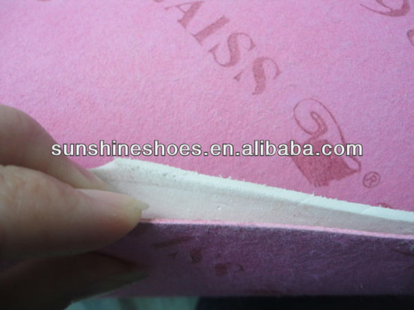 waterproof nonwoven insole board laminated with eva foam