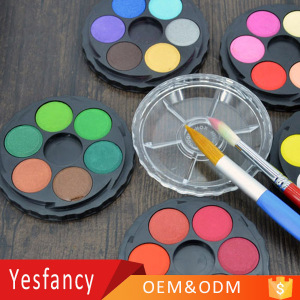 wholesale custom 12 colors artists water color paint cake 24 colors watercolor paint for kids