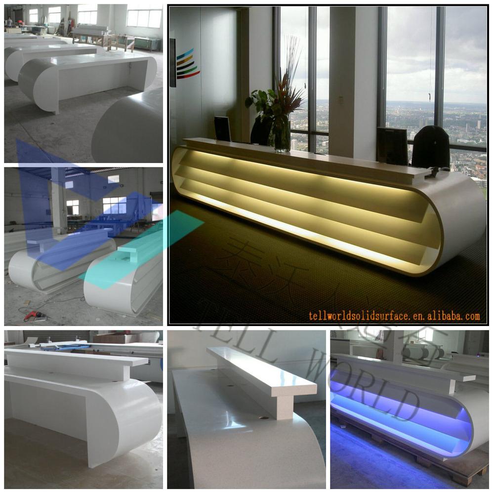 Mármol Artificial Moderno Mostradores,Lujo Recepción Diseño/spa ...