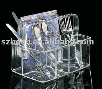 Acrylic Box,Acrylic Display Box,Acrylic Flatware Caddy