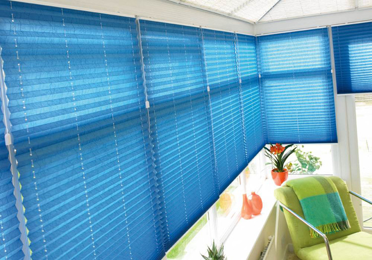 Factory Direct Supply Up Down Motor Paper Pleated Plissee Curtains