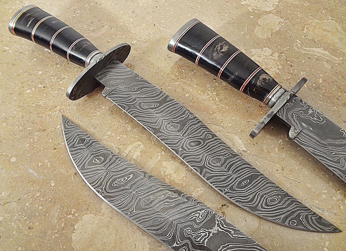 ColdLand Knives | One-of-a-Kind 15'' Custom Handmade Damascus Steel Bowie Hunting Knife HH05