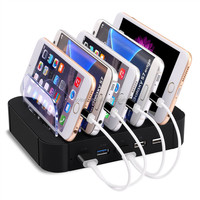 Amazon universal multi port 5 port mobile phone USB charging station