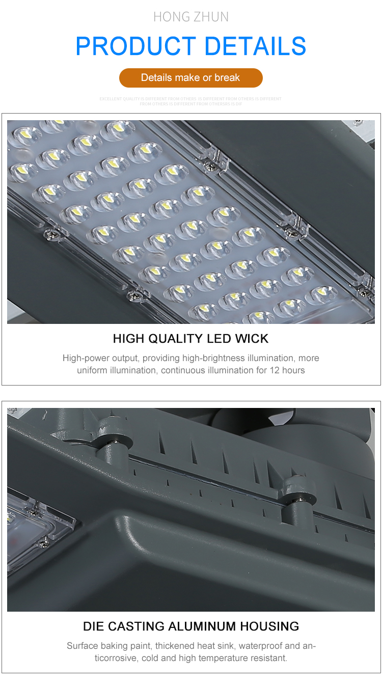 Waterproof ip65 outdoor aluminum smd 40w 90w led solar road lamp