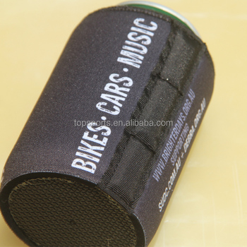Black Magnetic Neoprene Can Cooler/stubby Holder