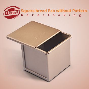 BAKEST sqaure baking bread pan without pattern golden aluminum alloy toast box