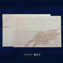 Dongguan factory OEM paper craft customized popular wedding invitation card arabic