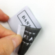 Custom size end fold Blank cheap woven clothing labels for clothes/shoes /bags /jeans and garments
