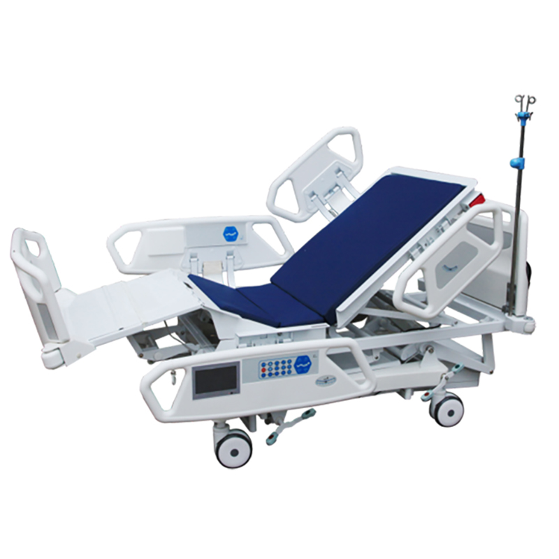 SK005-1 Hospital 5 Function Electric Remote Control Clinic Patient Bed With Side Rails