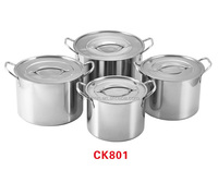 8pcs 555 stainless steel stock pots