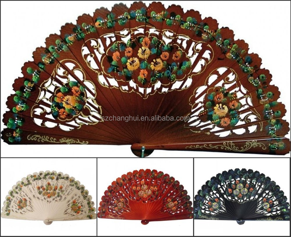 High quality both sides hand painted spanish fans