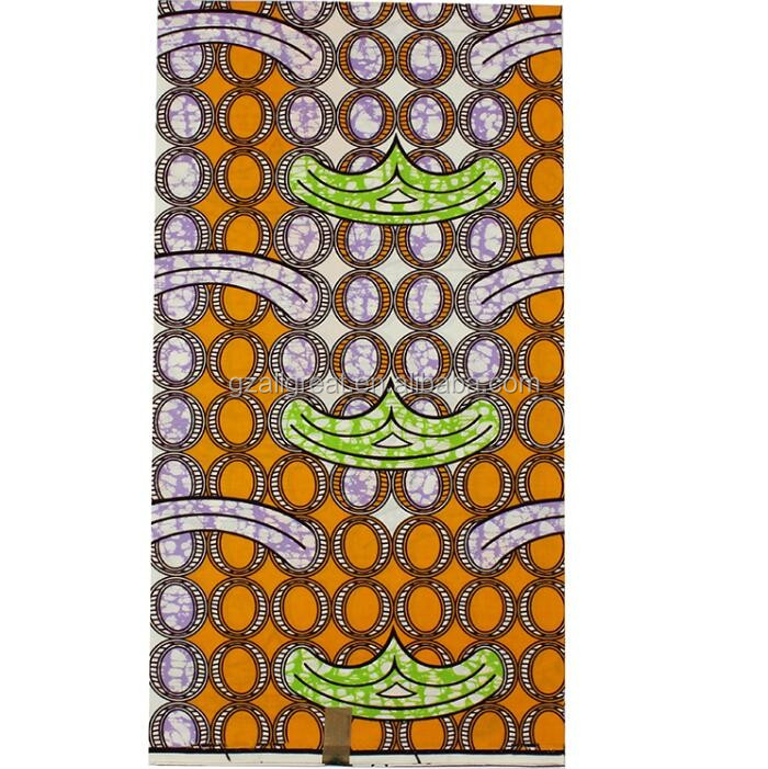 LWX8#131 2016 high quality 100% cotton super wax fabaric african wax printed fabric 6 yards