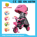 2016 HIGH QUALITY BEAUTIFUL BABY TRIKE WITH MUSIC NEW CHEAP CHILDREN TRICYCLE WITH CANOPY CE STANDARD CHEAP BABY TRICYCLE