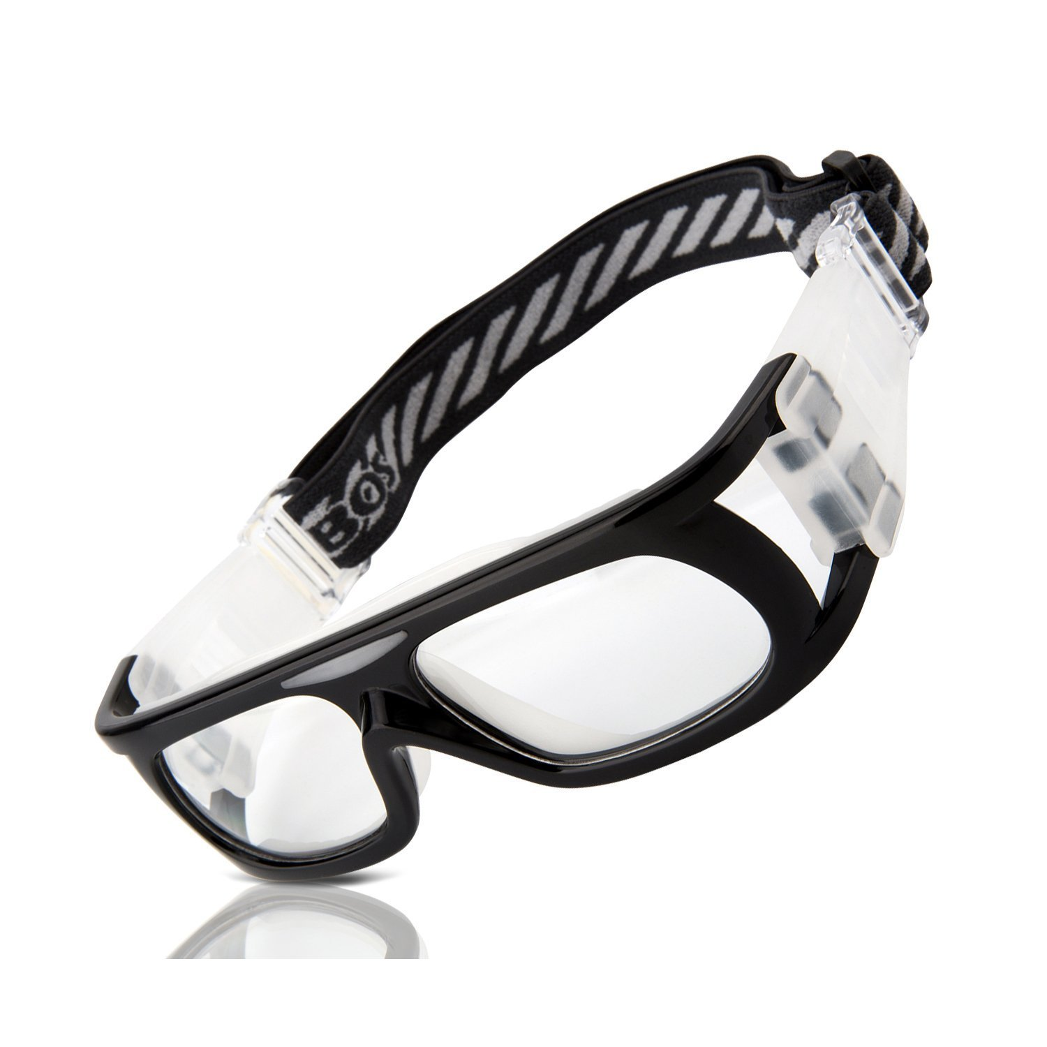 RIVBOS® Sports Goggles Safety Protective Glasses with Strap and Portable Case for Basketball Football Hockey Rugby Baseball Soccer Suitable for Men Women Kids Children Prescription Available RB1810