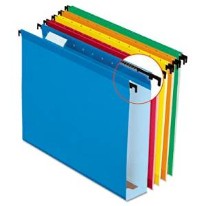 Esselte Pendaflex Corporation Products - Hanging Folder, 2amp;quot; Expansion, 1/5 Cut Tabs, Letter, 20/BX, Asst. - Sold as 1 BX - Hanging file folders feature extra capacity and SureHook technology with revolutionary built-in tension springs so the rods bend less. Folders stay on rails and slide
