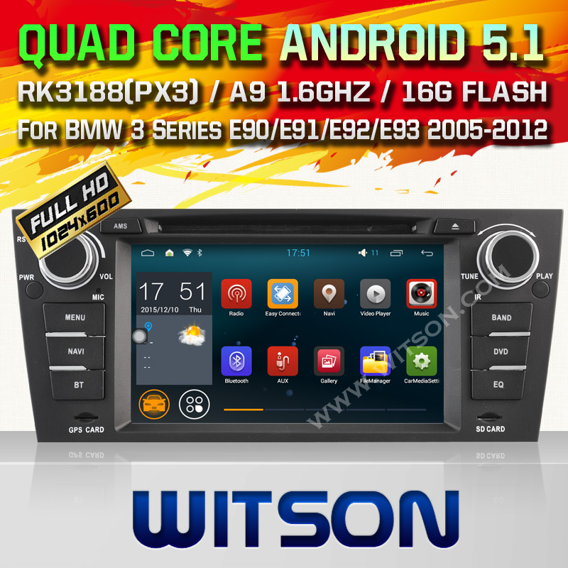 WITSON Android 5.1 car dvd For BMW 3 Series E90 E91 E92 E93 2005-2012with Quad Core Rockchip 3188 1080P 16g ROM WiFi DVR Picture