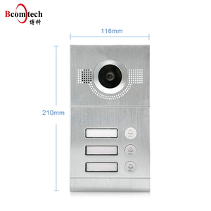 Glass Surface 7 Inch Multi Apartment Video Intercom System Support Room to Room Intercom