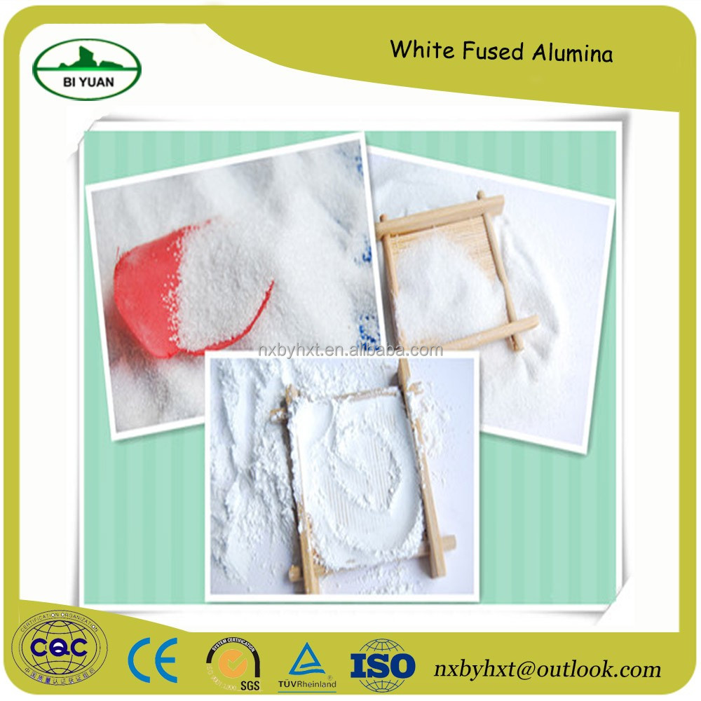 supply refractory raw materials white fused alumina granular or powder