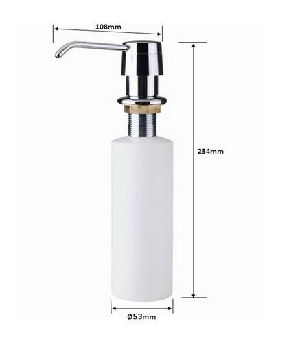 Kitchen Liquid Build in Replacement Sink Soap Dispensers Pump Tops Spray