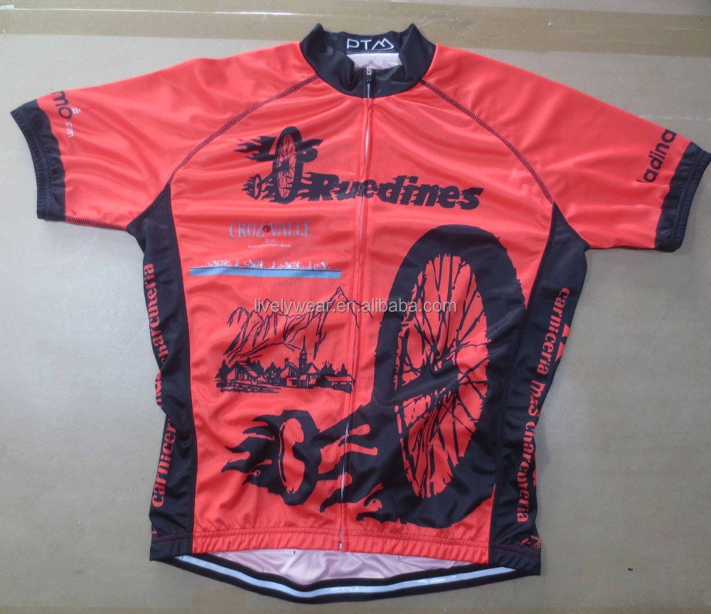 Livelywear -- new style coolmax polyester with low MOQ bike jersey, cycling equipment