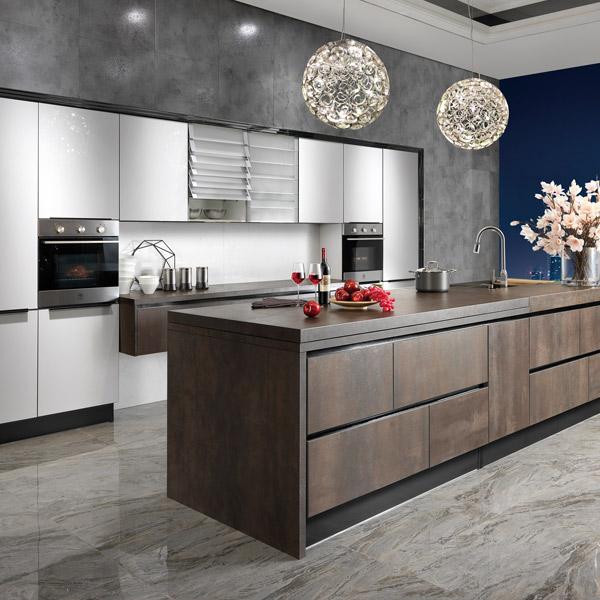 Guangzhou oppein al por mayor blanco laca modular mueble cocina ...