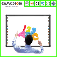 82'' smart whiteboard education with finger touch for Classroom Business with Software