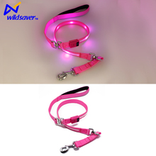 automatic retractable dog lead with LED light