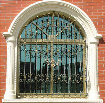 Fancy Wrought Iron Window Grill Design For Home